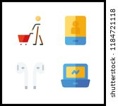 wireless icon. online store and ...   Shutterstock .eps vector #1184721118