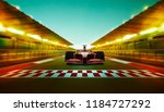 race driver pass the finishing... | Shutterstock . vector #1184727292