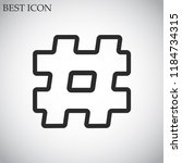 hashtag  vector icon 10 eps | Shutterstock .eps vector #1184734315