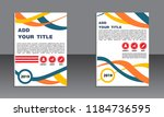 book cover vector modern... | Shutterstock .eps vector #1184736595