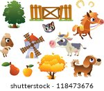 collection of vector farm... | Shutterstock .eps vector #118473676