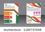 book cover vector modern... | Shutterstock .eps vector #1184737048