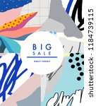 creative sale header or banner... | Shutterstock .eps vector #1184739115