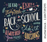 back to school colorful... | Shutterstock .eps vector #1184739295