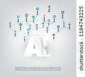 artificial intelligence ... | Shutterstock .eps vector #1184743225