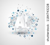 artificial intelligence ... | Shutterstock .eps vector #1184743228
