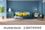 modern vintage interior of... | Shutterstock . vector #1184745445