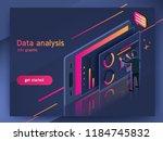 business technology smart phone | Shutterstock .eps vector #1184745832