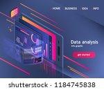 business technology smart phone   Shutterstock .eps vector #1184745838