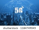 5g network wireless systems and ...   Shutterstock . vector #1184749045