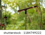 microphone put on stand scene. | Shutterstock . vector #1184749222