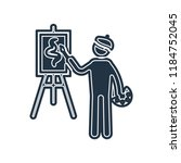 painter painting icon vector...   Shutterstock .eps vector #1184752045