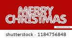 words   merry christmas. lace... | Shutterstock .eps vector #1184756848