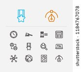 trade icons set. global network ...