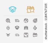 carrying icons set. logistics...