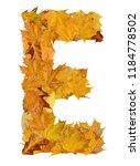 letter from autumn leaves  | Shutterstock . vector #1184778502