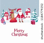 merry christmas cute greeting... | Shutterstock .eps vector #1184779252