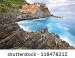 manarola landscape in cold... | Shutterstock . vector #118478212