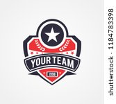 sports team or campaign or... | Shutterstock .eps vector #1184783398