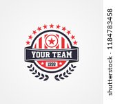 sports team or campaign or... | Shutterstock .eps vector #1184783458