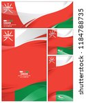 oman flag abstract colors...   Shutterstock .eps vector #1184788735