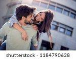portrait of beautiful smiling... | Shutterstock . vector #1184790628