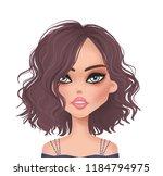 cute girl illustration.... | Shutterstock . vector #1184794975