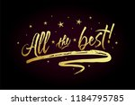 all the best card  banner.... | Shutterstock .eps vector #1184795785
