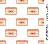 vintage seamless pattern with... | Shutterstock .eps vector #1184796298