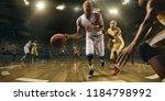 basketball players on big... | Shutterstock . vector #1184798992