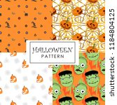 halloween pattern collections... | Shutterstock .eps vector #1184804125