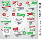 vector collection of pizza... | Shutterstock .eps vector #1184810338