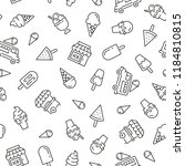 seamless pattern with ice cream.... | Shutterstock .eps vector #1184810815