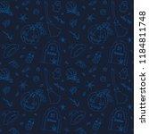 seamless pattern. halloween...   Shutterstock .eps vector #1184811748