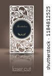 die laser cutting invitation... | Shutterstock .eps vector #1184812525