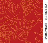 vector seamless floral pattern...   Shutterstock .eps vector #1184821465