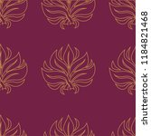 vector seamless floral pattern... | Shutterstock .eps vector #1184821468