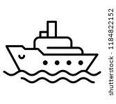ocean ship icon in trendy flat...