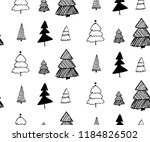 doodle hand drawn christmas... | Shutterstock .eps vector #1184826502