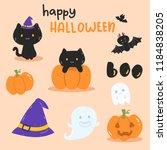 happy halloween art | Shutterstock .eps vector #1184838205