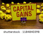 word writing text capital gains.... | Shutterstock . vector #1184840398