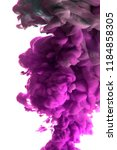 purple ink in water isolated on ... | Shutterstock . vector #1184858305