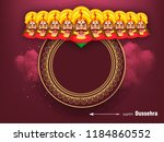 beautiful greeting design for... | Shutterstock .eps vector #1184860552