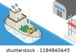 maritime shipping concept based ... | Shutterstock .eps vector #1184860645