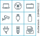 hardware icons set with... | Shutterstock .eps vector #1184865112