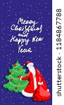 cute cartoon santa claus... | Shutterstock .eps vector #1184867788