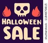 halloween sale. hand drawn...   Shutterstock .eps vector #1184870815