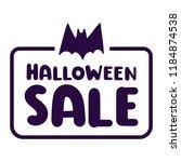 halloween sale. badge vector...   Shutterstock .eps vector #1184874538