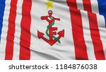 mauritius naval ensign flag ... | Shutterstock . vector #1184876038