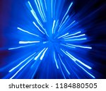 Blue light abstract starburst...